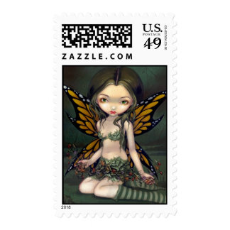 Fairy With Dried Flowers Postage Stamp