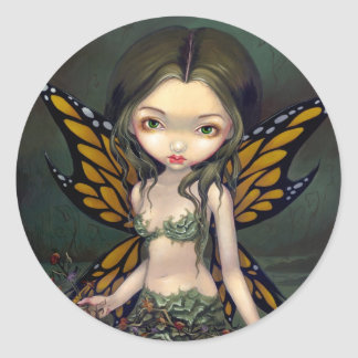 """Fairy with Dried Flowers"" Sticker"