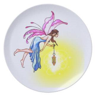 Fairy with Lantern Dinner Plate