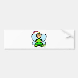 Fairy (with logos) bumper stickers