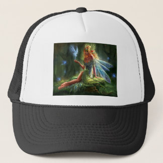 Fairy with magic wand trucker hat