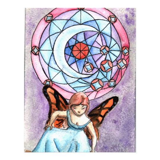 Fairy with Moon Window Flyer
