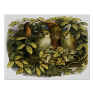 """Fairy with Owls"" by Doyle - Print"