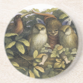 Fairy with Owls Coaster