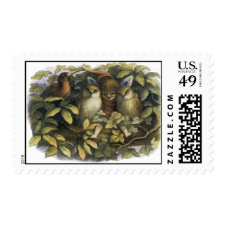 Fairy With Owls Postage by Richard Doyle