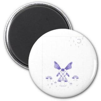 fairy with poison mushroom.jpg 2 inch round magnet
