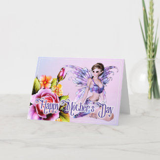 Fairy with Roses - Fantasy Mother's Day Card