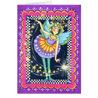 fairy with stars & wand card