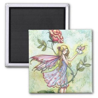 Fairy with Tiny Bunny Fairy Magnet