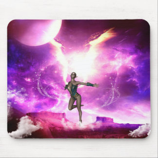 Fairy with water wings mouse pad