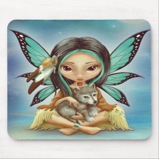 Fairy Wolf Mouse Pad