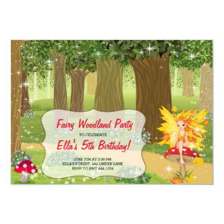 Fairy Woodland Birthday Party Invitations
