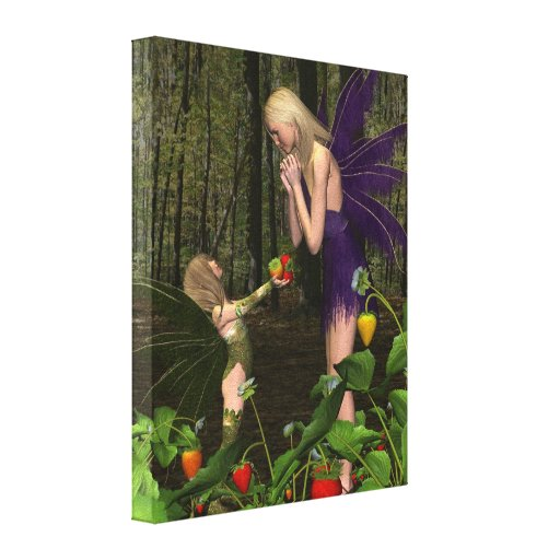 Fairy Woodland Mother's Day Gift Gallery Wrap Canvas