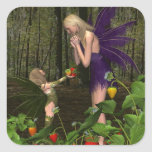 Fairy Woodland Mother's Day Gift Square Sticker
