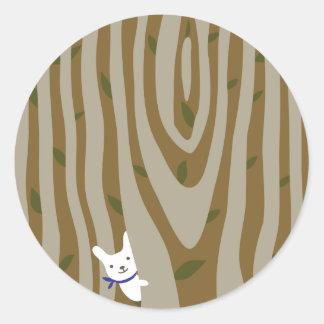 Fairy woods classic round sticker
