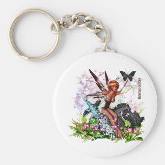 Fairy World Basic Round Button Keychain
