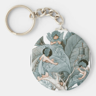 Fairy World - The Leaf Makers Basic Round Button Keychain