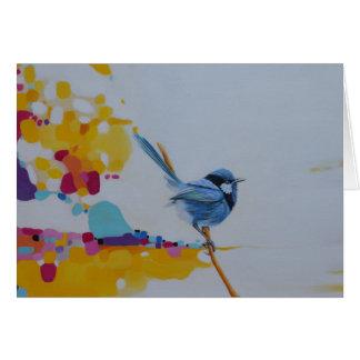 Fairy-Wren Bird Greeting Card
