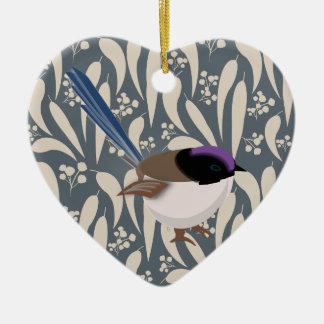 Fairy Wren Ceramic Ornament