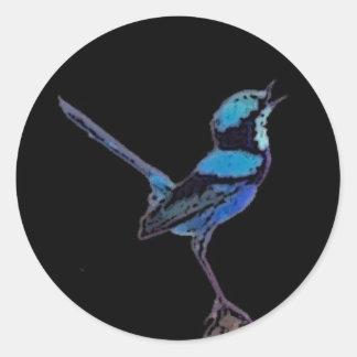Fairy Wren Classic Round Sticker
