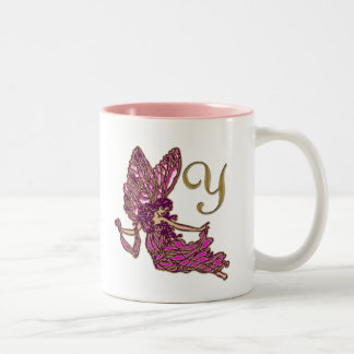 Fairy Y Monogram Two-Tone Coffee Mug