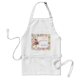 """Fairydoodler's """"Baked With Love, by Me"""" cup cake Adult Apron"""