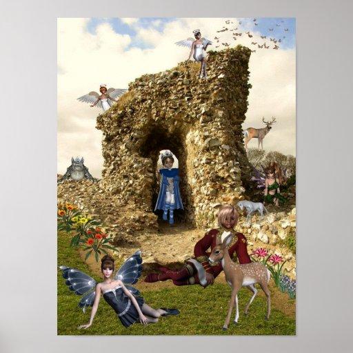 Fairyland del acre del castillo poster