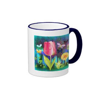 Fairyland Gardens Ringer Coffee Mug