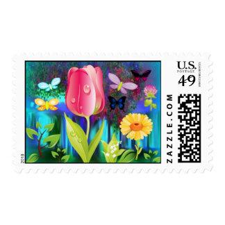 Fairyland Gardens  Stamp
