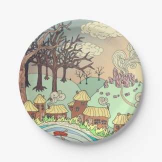 Fairyland upon the River Paper Plate