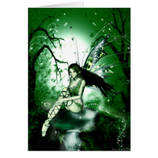 FairyMagic Green Blank Card