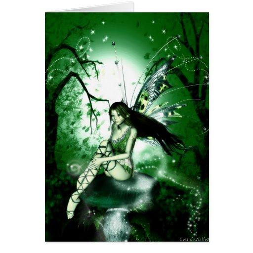 FairyMagic Green Blank Card