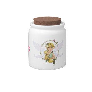 Fairy's delicious treats candy jars