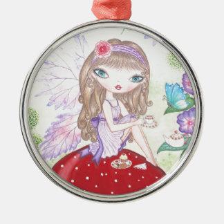 """Fairy's Tea"" Metal Ornament"