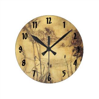 Fairy's Tightrope by Arthur Rackham, Vintage Art Clock