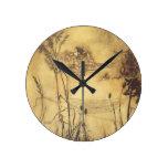 Fairy's Tightrope by Arthur Rackham, Vintage Art Round Wall Clocks