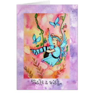 Fairyswing Birthday greetings Note Card