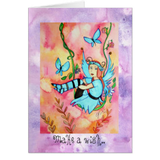 Fairyswing Birthday greetings Note Card Cards