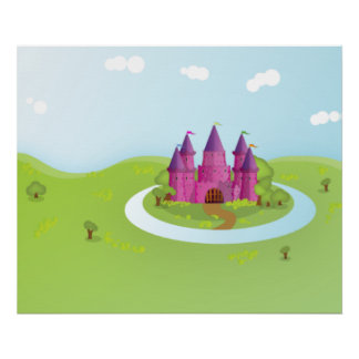 FairyTail Castle Pixelated Edition Poster