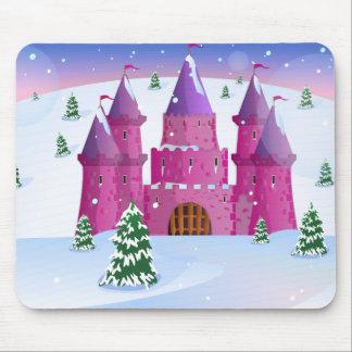 Fairytail Castle Winter Snow Mouse Pad