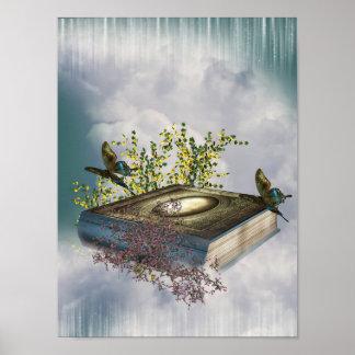 Fairytale Book Butterflies Poster