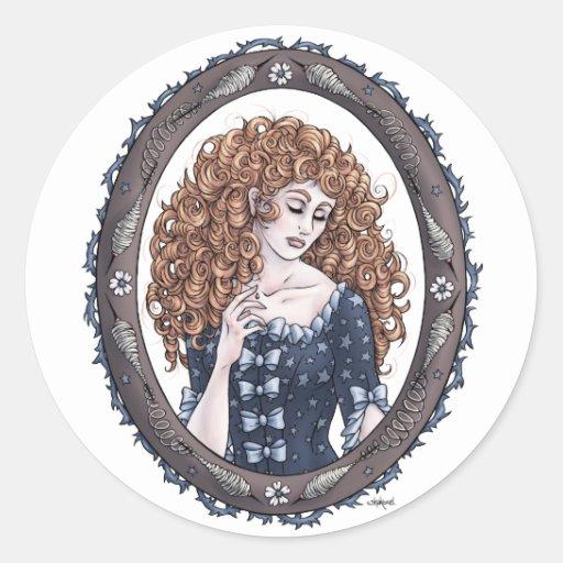 "Fairytale ""Briar Rose"" Fantasy Art Stickers"