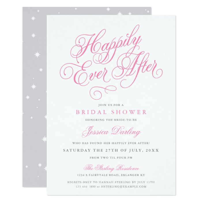 Fairytale Bridal Shower Invitations In