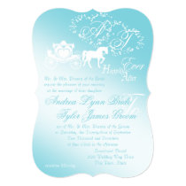 Fairytale Carriage and Hearts Invitation