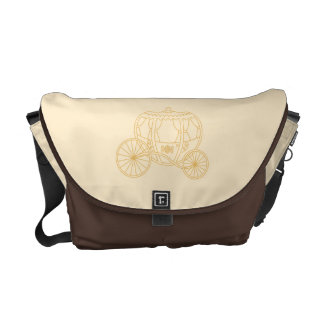 Fairytale Carriage Design in Beige and Tan Colors. Courier Bags