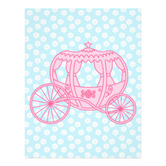 Fairytale Carriage Design in Pink and Blue. Flyer