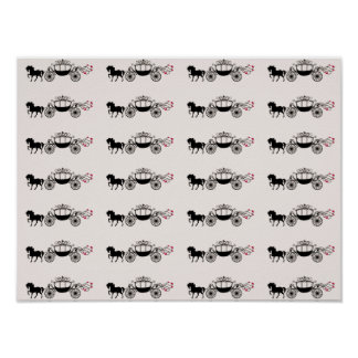 Fairytale Carriage ~ Gift Wrapping Paper 16x12 Poster