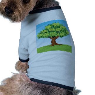 FAIRYTALE CARTOON SUMMER TREE LEAVES HILL GREEN VE DOGGIE T-SHIRT