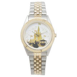 fairytale castle and carriage bracelet watch