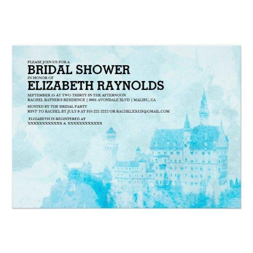 Fairytale Castle Bridal Shower Invitations Personalized Invitations